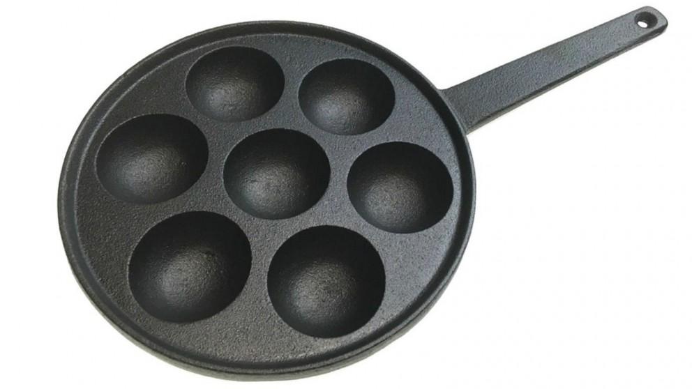 Boutique Retailer 7 Hole Dimple Cast Iron Poffertjes Pan