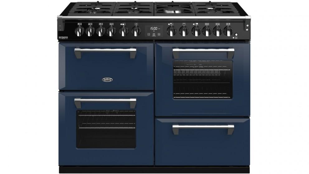 Belling 1100mm Colour Boutique Richmond Deluxe Dual Fuel Range Cooker - Midnight Blue