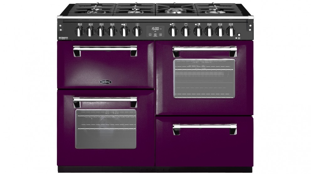 Belling 1100mm Colour Boutique Deluxe Dual Fuel Range Cooker - Wild Berry