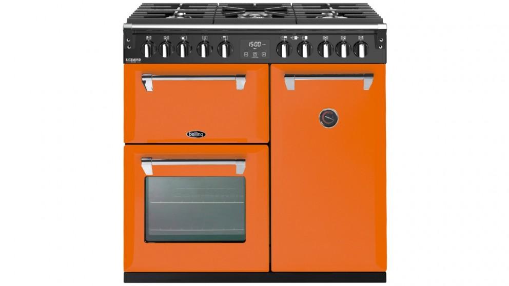 Belling 900mm Colour Boutique Deluxe Dual Fuel Range Cooker - Peach Blush