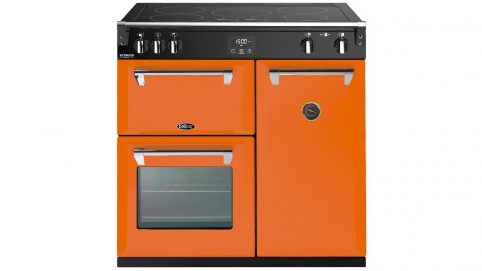 Belling 900mm Colour Boutique Deluxe Induction Range Cooker  - Peach Blush