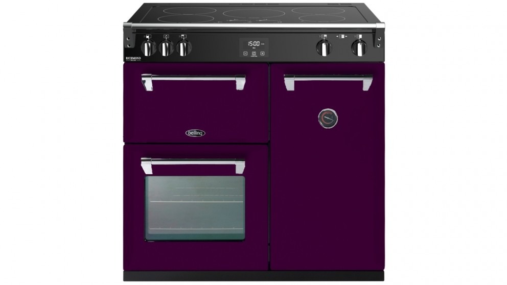 Belling 900mm Colour Boutique Deluxe Induction Range Cooker - Wild Berry