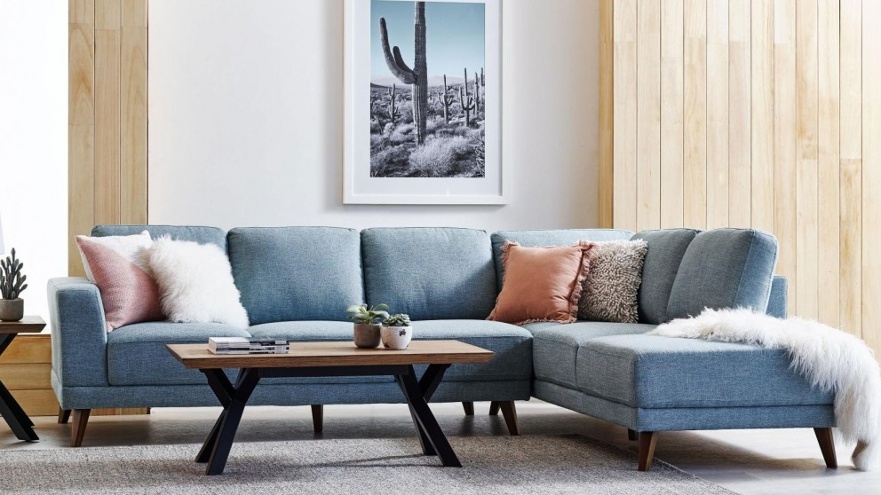 Buy Brewer Fabric Corner Sofa with Chaise | Harvey Norman AU