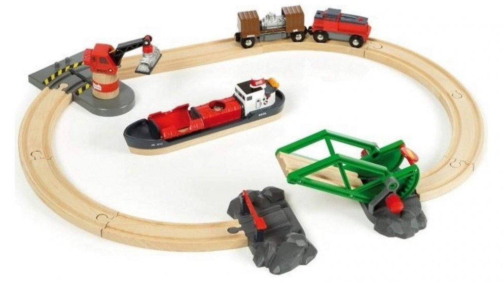 BRIO Set - Cargo Harbour Set 16 pieces
