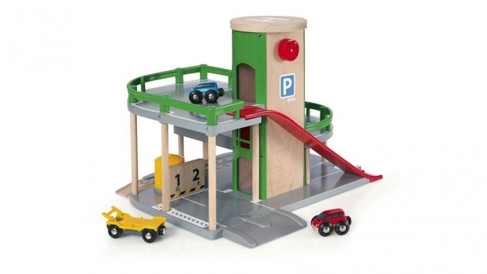 Brio 7-Piece Parking Garage Vehicle Playset
