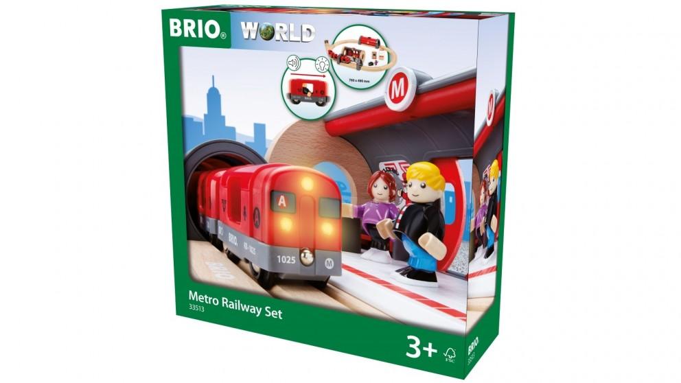 Brio 20 Pieces Metro Railway Set