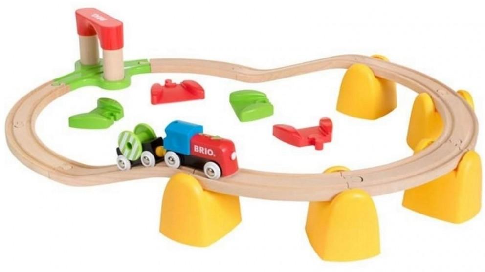 Brio 25-Piece My First Rail Train Vehicle Playset