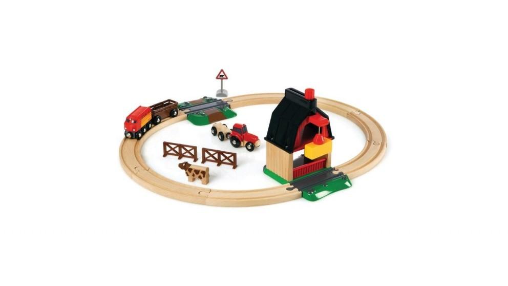 BRIO Set - Farm Railway Set - 20 Pieces