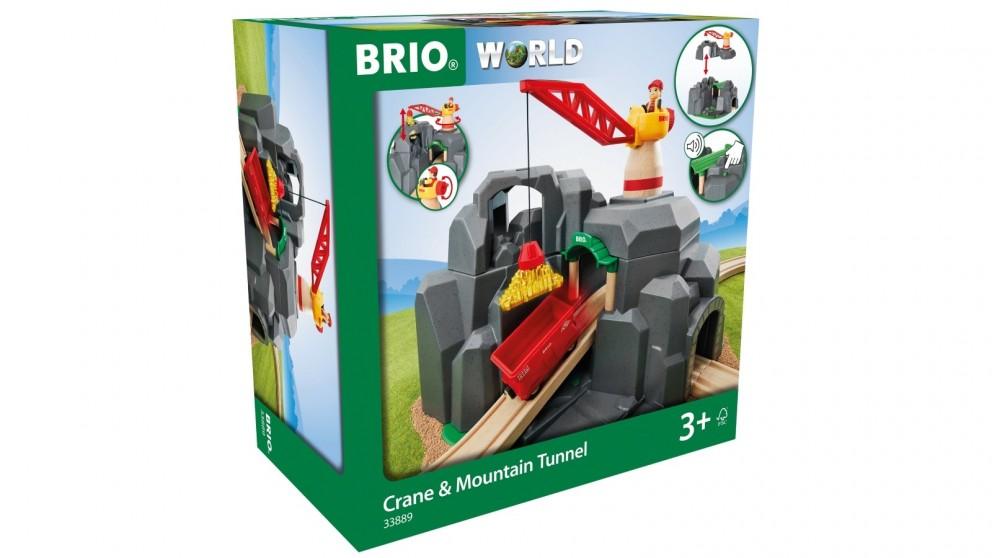 Brio Tunnel Crane and Mountain Tunnel 7 Pieces