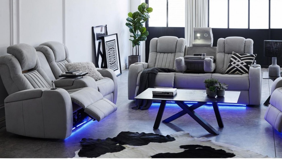 Superb Buy Brockman 3 Seater Powered Fabric Recliner Sofa Harvey Download Free Architecture Designs Remcamadebymaigaardcom