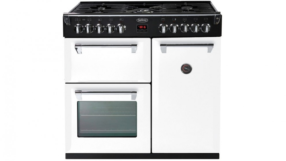 Belling 900mm Richmond Dual Fuel Freestanding Cooker - White