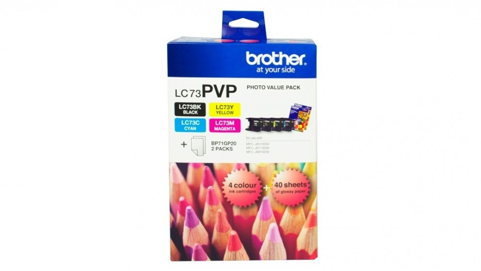 Brother LC-73PVP Photo Value Pack Inkjet Cartridge