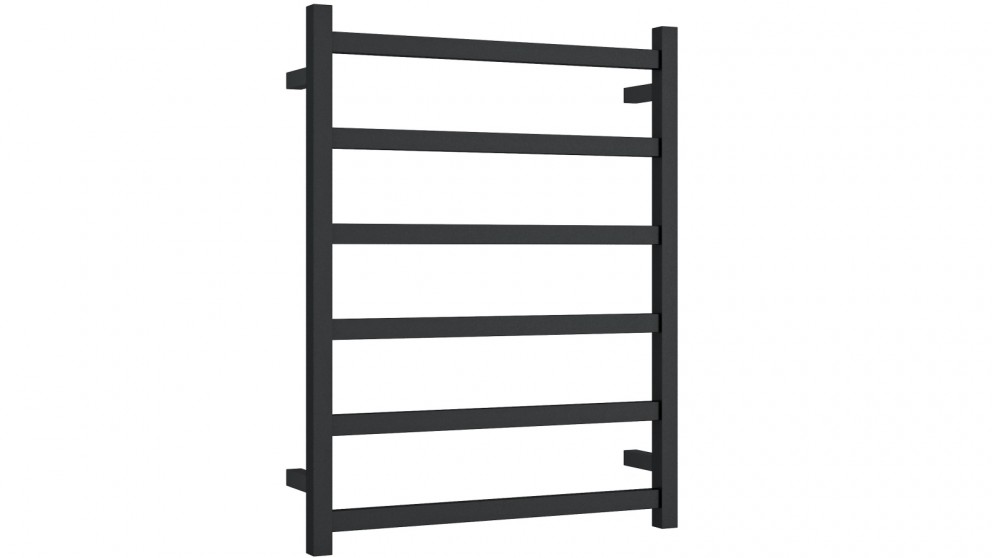Thermogroup Thermorail 6 Bar Square Heated Towel Rail - Matte Black