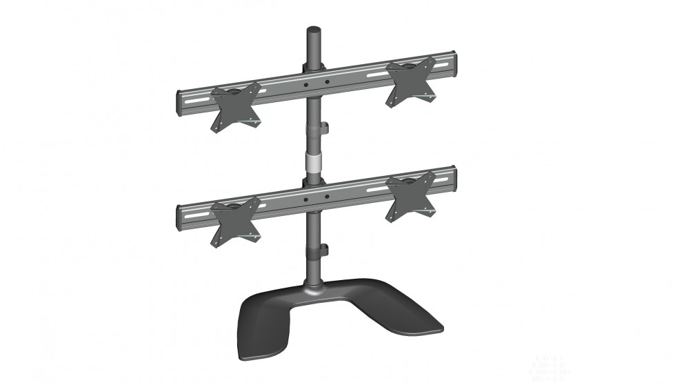 """Brateck Freestanding Four LCD Monitor Stand - 13"""" - 24"""""""