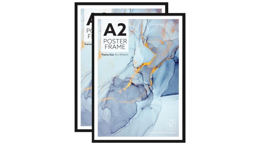 Cooper & Co. Set of 2 A2 Poster Photo Frames - Black
