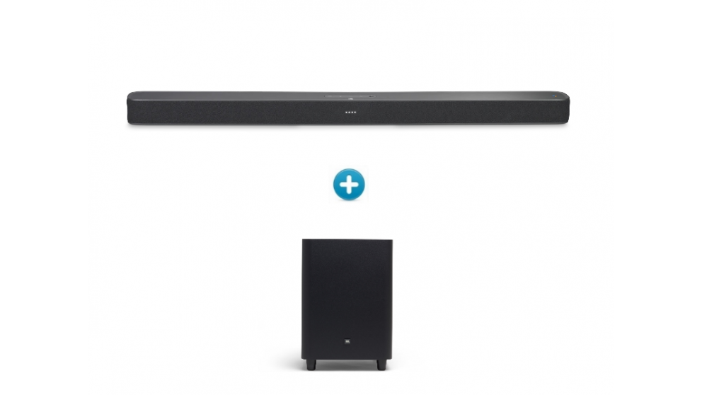 JBL Link Bar Smart Soundbar + JBL SW10 10-inch Powered Wireless Subwoofer Package