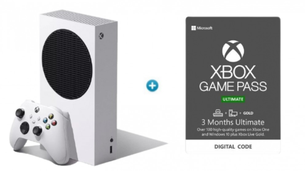 Xbox Series S 512GB Console with Xbox Game Pass Ultimate Electronic Voucher - 3 Month Subscription