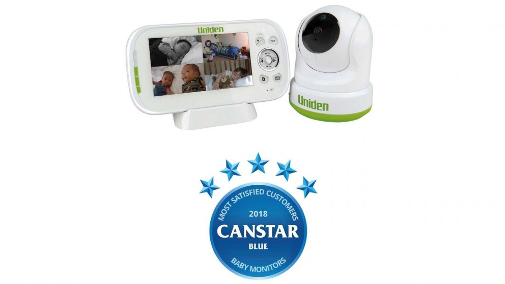 """Uniden BW3451R 4.3"""" Digital Wireless Baby Video Monitor - Pan & Tilt with remote viewing via Smartphone App"""