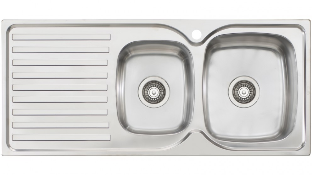 Buy Oliveri Byron 1 & 3/4 Right-Hand Bowl Top Mount Sink with ...