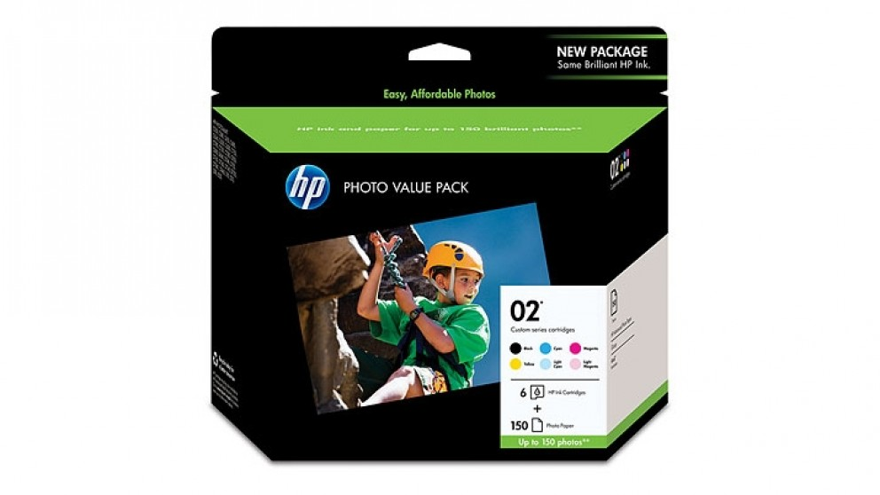 HP 02 Series Photo Value Pack Ink Cartridges
