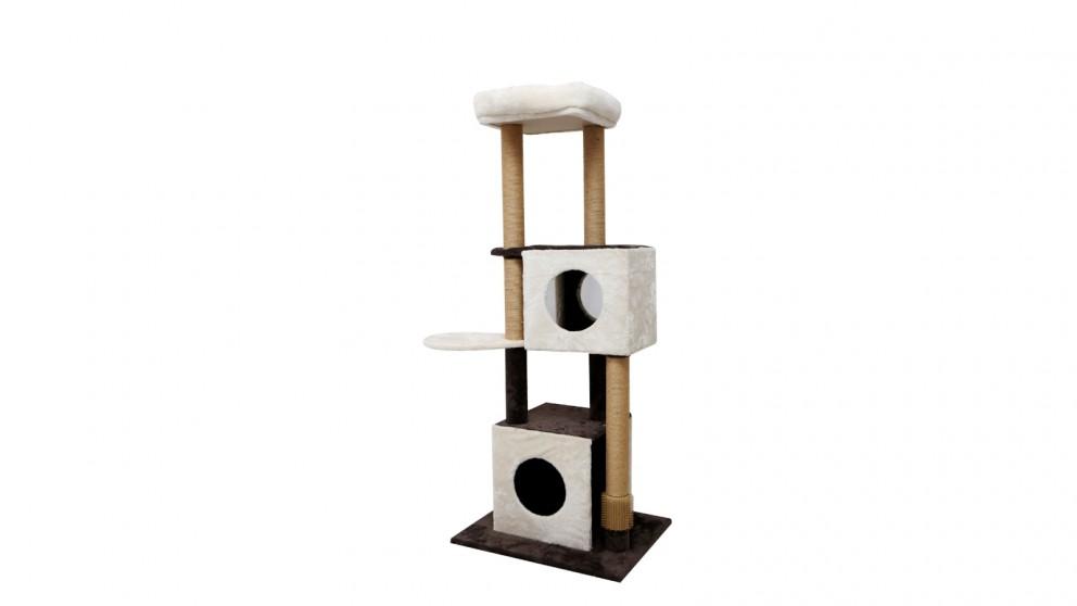 Catio Deluxe Multi-function Three-Level Dual Condo Cat Scratching Tree