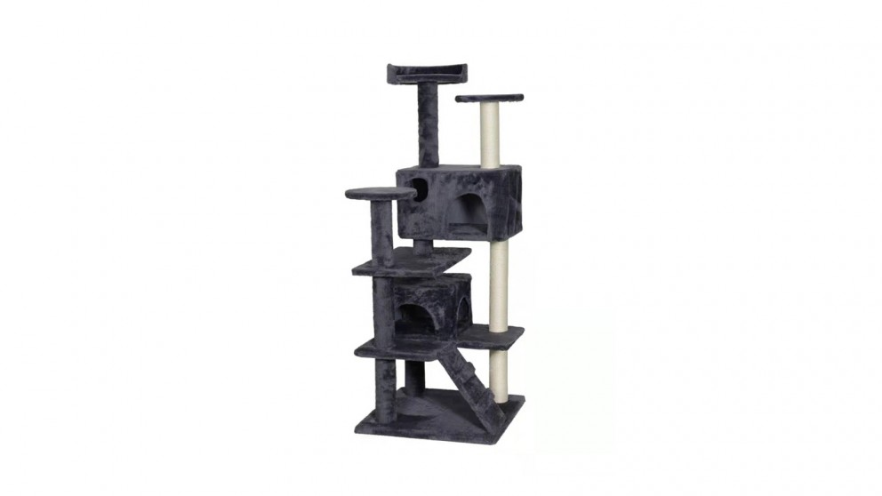 Catio Chipboard Flannel Cat Scratching Tree - Abstract Deluxe