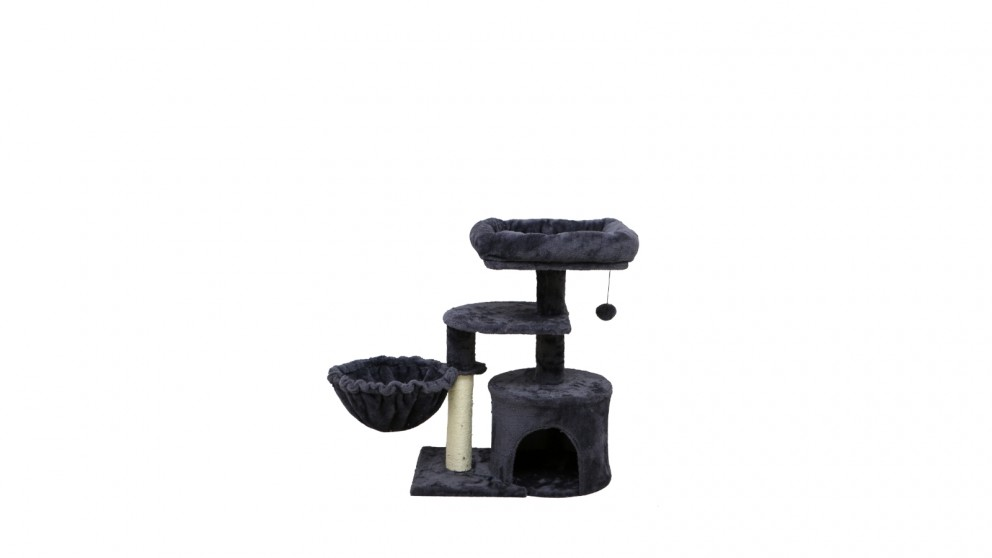 Catio Chipboard Flannel Cat Scratching Tower - Cubby