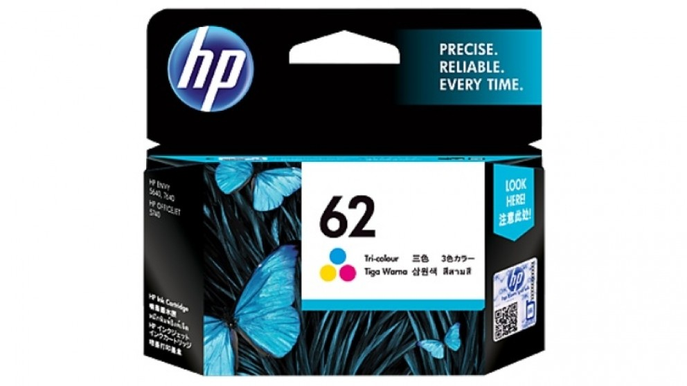 HP 62 Original Ink Cartridge - Tri-Colour