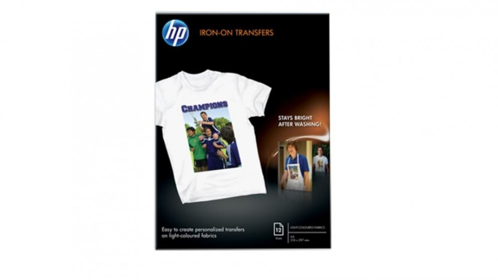 HP A4 / 210x297mm Iron-On Transfer - 12 Sheet
