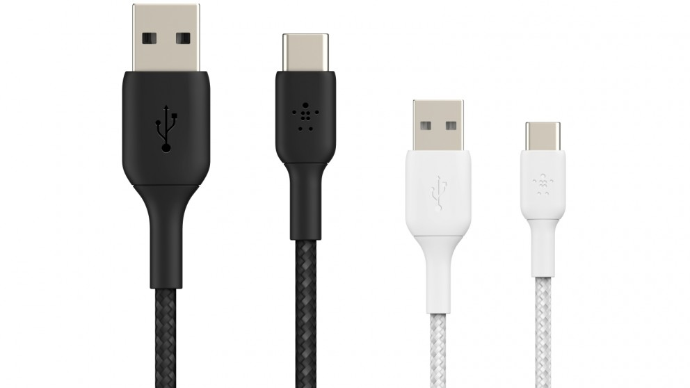 Belkin BoostCharge 2m Braided USB-C to USB-A Cable