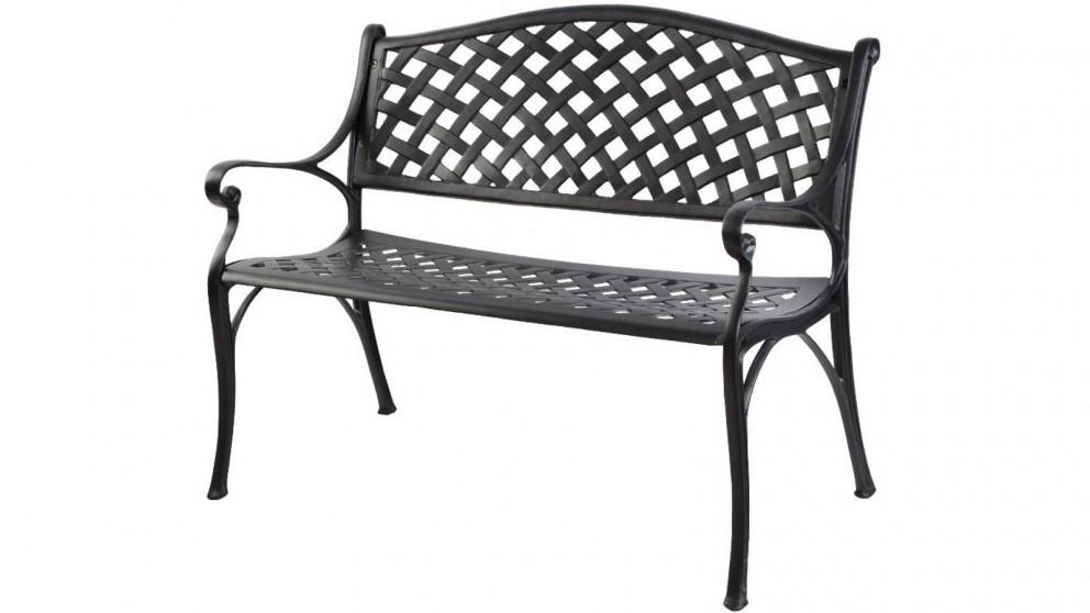 Gardeon Cast Aluminium Outdoor, 3 Seater Cast Aluminium Garden Bench