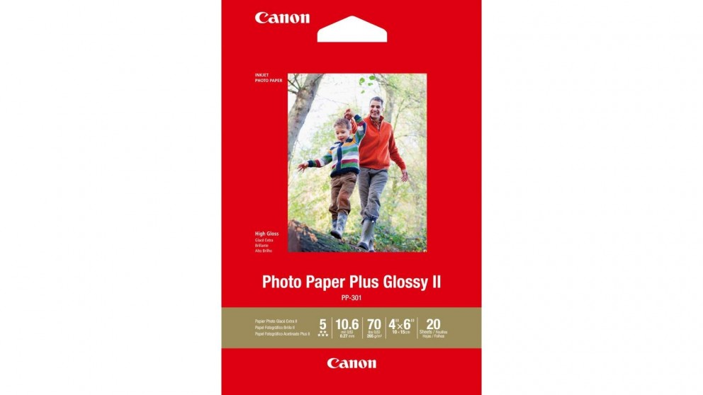 Canon 20-Sheets 4x6-inch Plus Glossy II Photo Paper