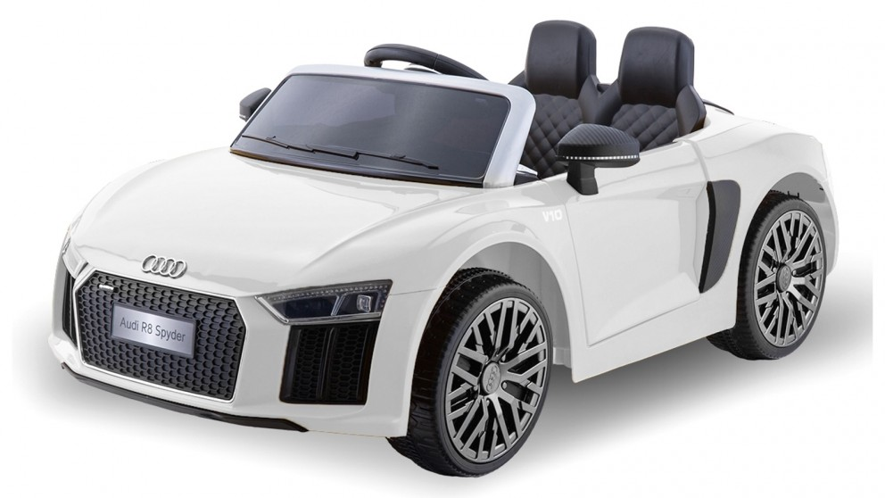 R8 Spyder Audi Electric RideOn Car - White