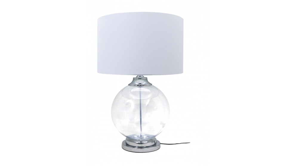 Cardiff Clear Glass Table Lamp