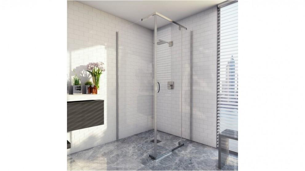 Decina Cascade 1000mm White Chrome Shower System