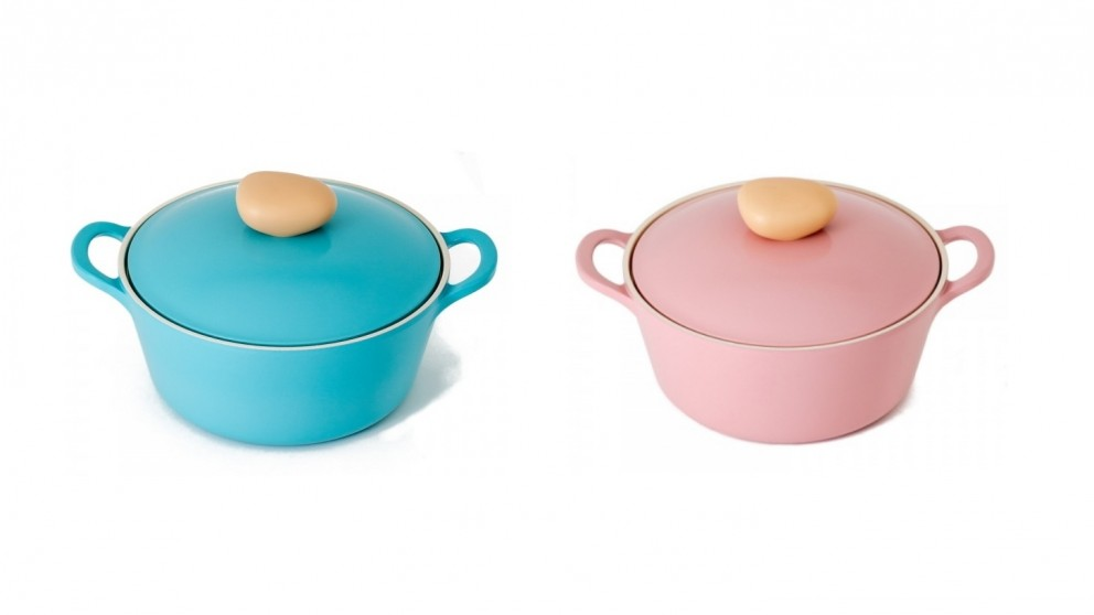 Neoflam Retro 22cm Casserole 2.8L Induction with Die-Casted Lid