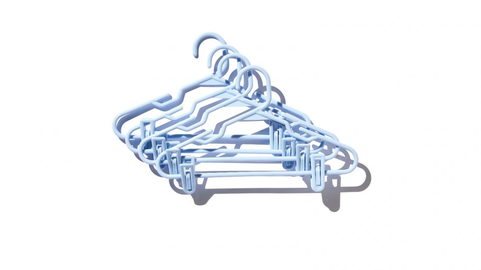 Central Baby District Kids Hanger with Clips - Light Blue