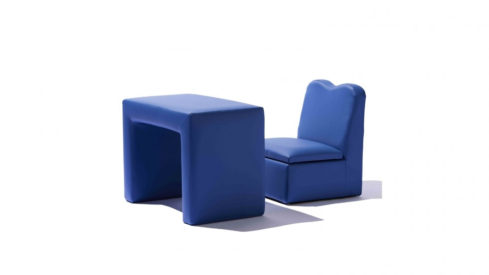 Central Baby District Storage Chair & Table - Blue