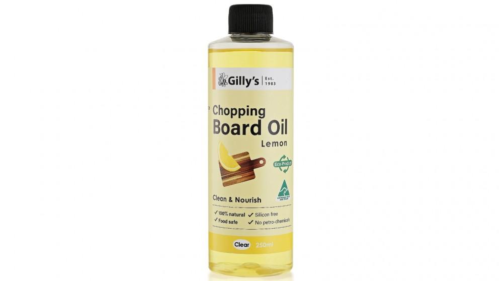 Gilly's Australia 250ml Chopping Board Oil - Lemon