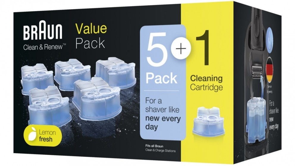 Braun Clean & Renew Refill Cartridges Value Pack - 5+1 Pack