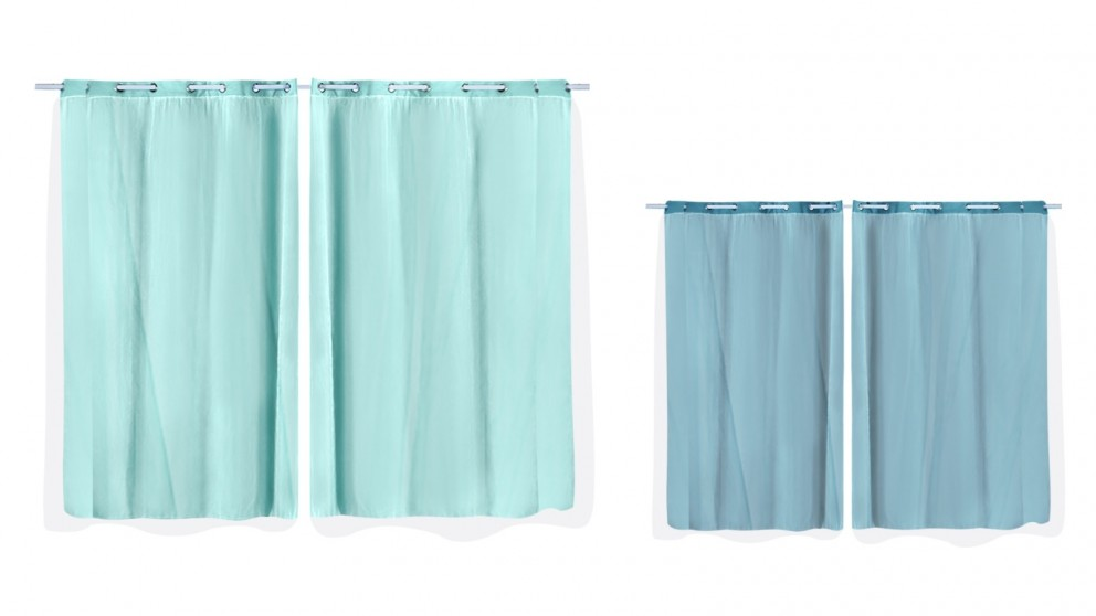 DreamZ Set of 2 140x244cm 3 Layers Blockout Curtains with Gauze Room Darkening