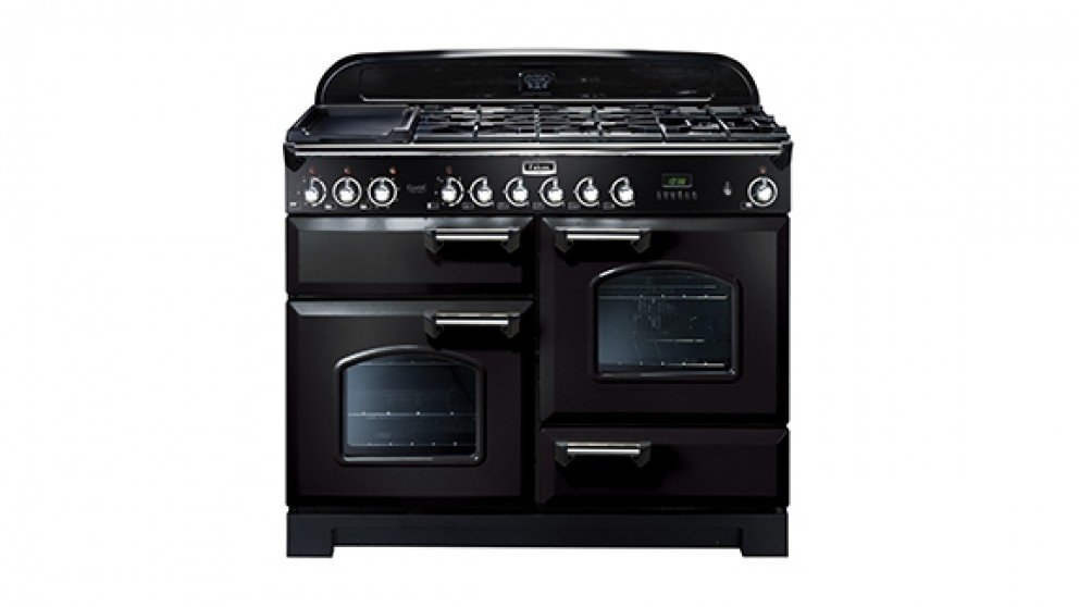 Falcon Classic Deluxe 1100mm Dual Fuel Freestanding Cooker - Black Chrome