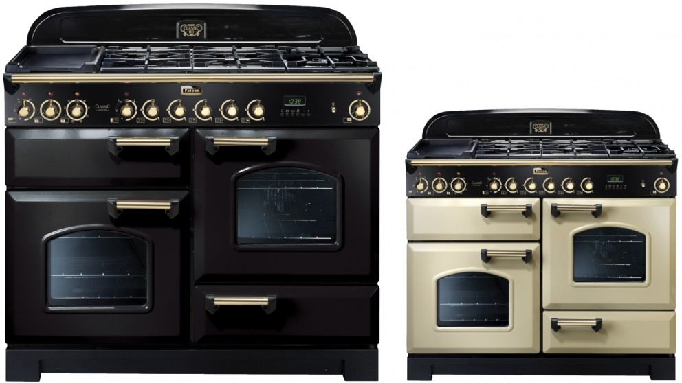 Falcon Classic Deluxe 1100mm Brass Fitting Dual Fuel Freestanding Cooker