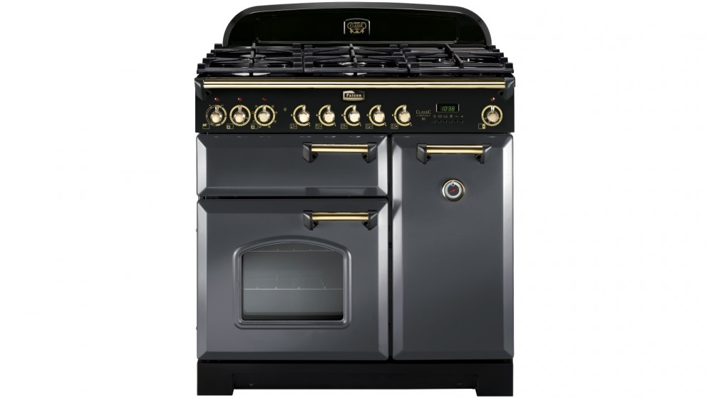 Falcon Classic Deluxe 900mm Dual Fuel Freestanding Cooker - Slate/Brass