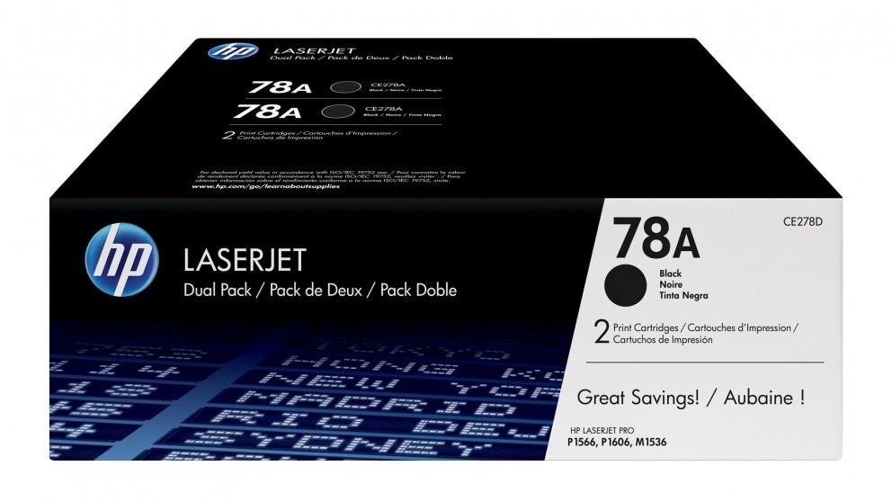 HP 78A 2-Pack LaserJet Toner Cartridge - Black