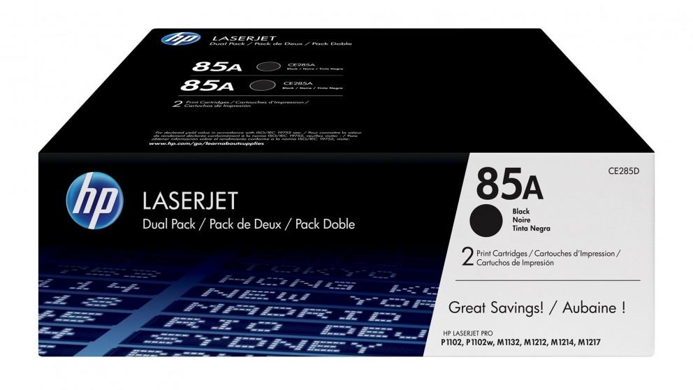 HP 85A Dual Pack LaserJet Toner Cartridge - Black