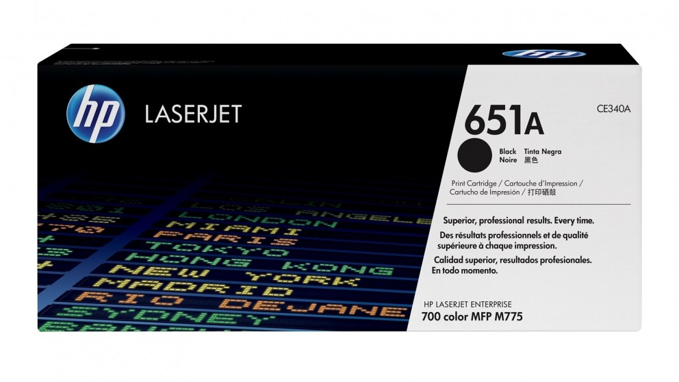HP 651A LaserJet Toner Cartridge - Black
