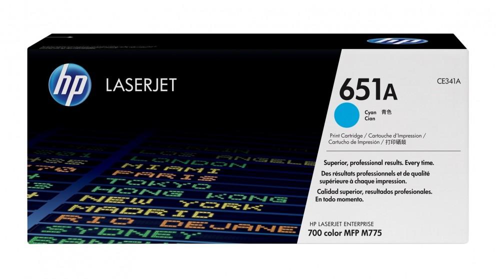 HP 651A LaserJet Toner Cartridge - Cyan