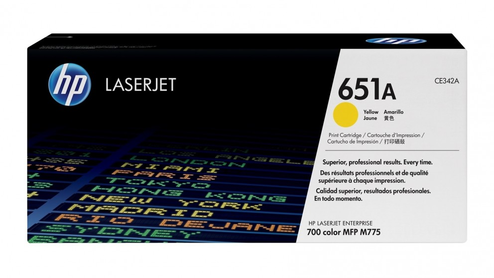 HP 651A LaserJet Toner Cartridge - Yellow