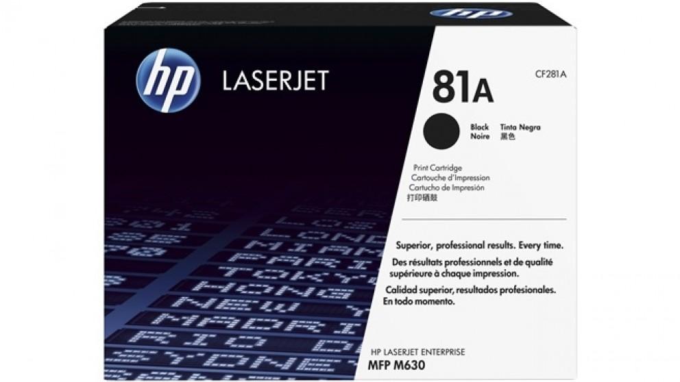 HP 81A Laser Jet Toner Cartridge - Black